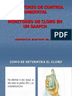 Monitoreo de Cloro en Un Saapch