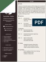 Single page effective modern resume