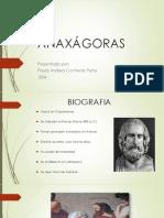 ANAXÁGORAS - FILOSOFIA