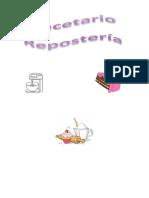 Recetario Reposteria