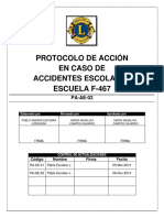 Protocolo de Acción en Caso de Accidente Escolar - Actualizado 06 Nov. 2014