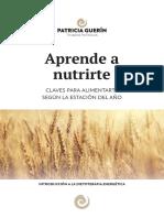 Aprende a Nutrirte Patricia Guerin