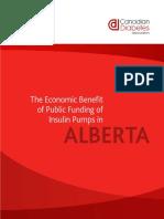 Economic Benefit of Public Funding for Insulin Pumps in Alberta