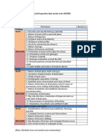 BSS Field Checklist