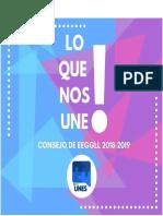 Plan de Trabajo al Consejo de EEGGLL- UNES Letras 2018-2019