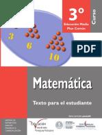 Matematica 3º 2016 Para MEC