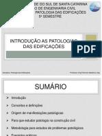 Patologia Das Edificações 2016
