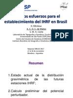 Primeros Esfuerzos Para Establecimiento IHRF en Brasil
