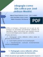 Pedagogía Como Reflexión Crítica.