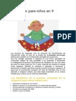 Relajación Para Niños en 9 Ejercicios