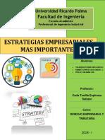 Monografia Estrategias Empresariales Mas Importantes - Derecho Empresarial