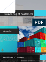 Numbering of Containers