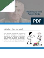 Psicoterapia en La Vejez
