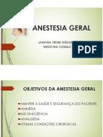 Anestesiologia - Anestesia Geral básica