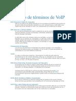 Glosario VoIP