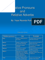 Relative Pronouns and Adverbs Powerpoint