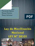 ley de movilización 28101