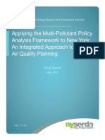 Applying Multipollutant Policy Analysis Framework NY
