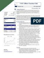 VST Tiller Report