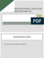 Normas - Estilos Para Las Citas Bibliográficas