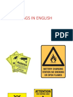 Tags in English