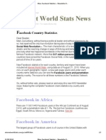 More Facebook Statistics - Newsletter 058