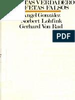 Gerhard Von Rad & Angel Gonzalez. Profetas Verdaderos - Profetas Falsos.pdf