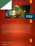 Iluminacion en Tuneles de Mineria