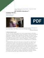 """""""Apuntes desde nuestra trinchera""""- CristinaGarcía"""