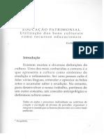 DUCAÇÃO PATRIMONIAL Utilização Dos Bens Culturais Como Recursos Educacionais.