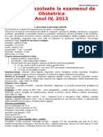 Subiecte Rezolvate Examenul Obstetrica 2013 by Med