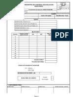 RAE-001 Rev. 0 Registro de Control de Aislacion Electrica