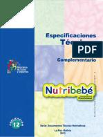p012 Et Dgps Uan Especificaciones Tecnicas Del Nutribebe