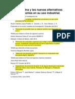 La Tartrazina y Las Nuevas Alternativas Sustituyentes en Su Uso Industrial