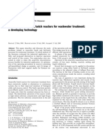 Anaerobic Secuencial Mbatch Reactor for Water Treatmen a Developing Technology