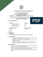 Preparación Del Complejo Cis-bisglicinatocobre(II)