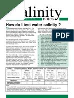 Water Salinity