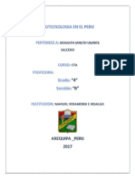 Biotecnologia en El Peru