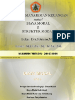 Biaya Struktur Modal SEMINAR