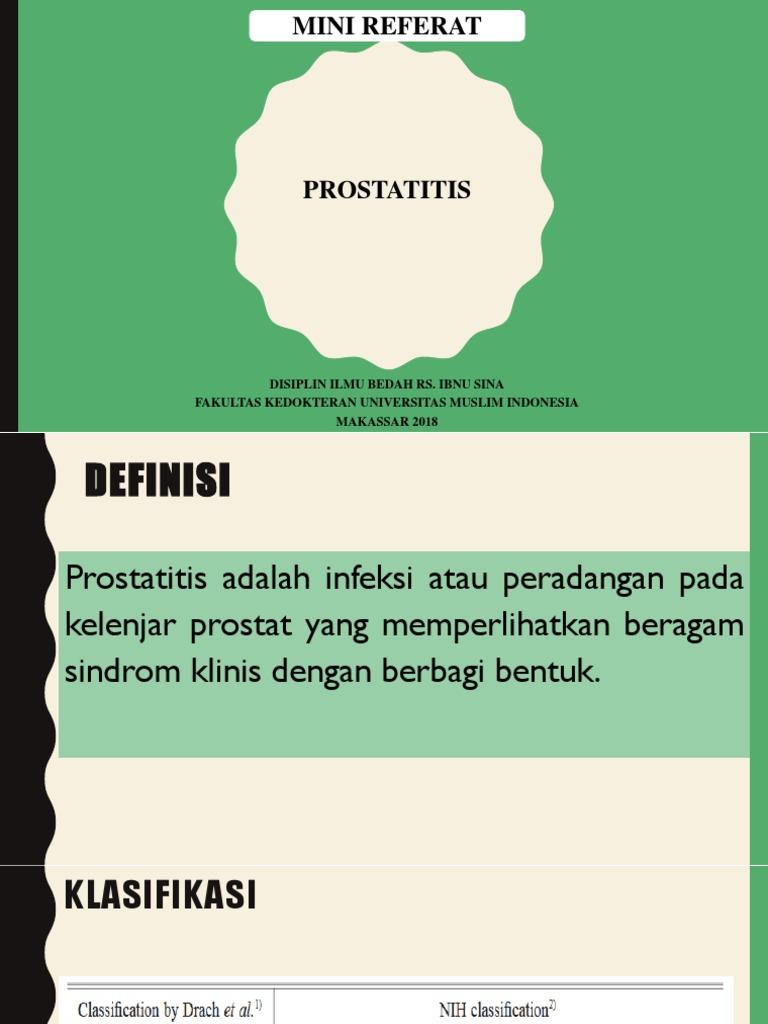 Prostatitis és tavanik