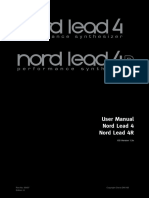 Nord Lead 4 English User Manual v1.3x Edition H