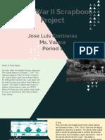 world war ii scrapbook  project