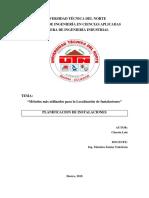 Chacón Luis-Métodos Más Utilizados Para La Localización de Instalaciones