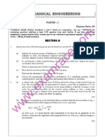 IAS Mains Mechanical Engineering 1992