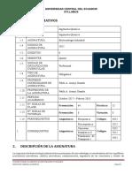 5052 - Biotecnología Industrial - 2017 2018 P.araujo