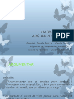 Habilidades de Argumentacion
