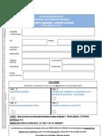 Ficha inscripción VII jornada para orientadores escolares