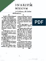 (1651) Dictionarium Annnamiticum [Sic] Lusitanum, Et Latinum - Alexandre de Rhodes