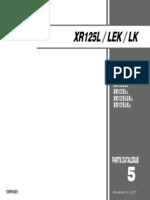 Parts Catalogue Honda Xr125 | Carburador | Soporte