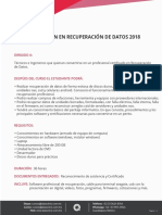 Temario y Costo Curso de Recuperacion de Datos DataClinic